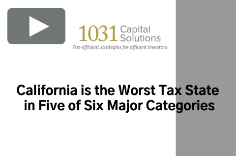 CALIFORNIA IS THE WORST TAX STATE IN FIVE OF SIX MAJOR CATEGORIES