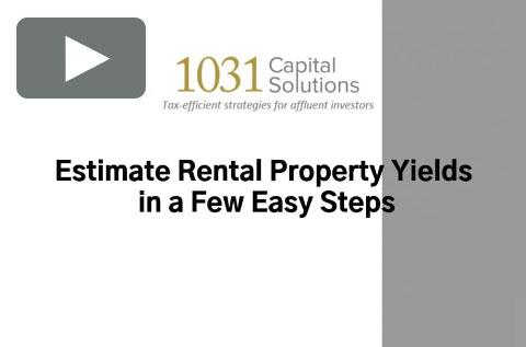 ESTIMATE RENTAL PROPERTY YIELDS IN A FEW EASY STEPS