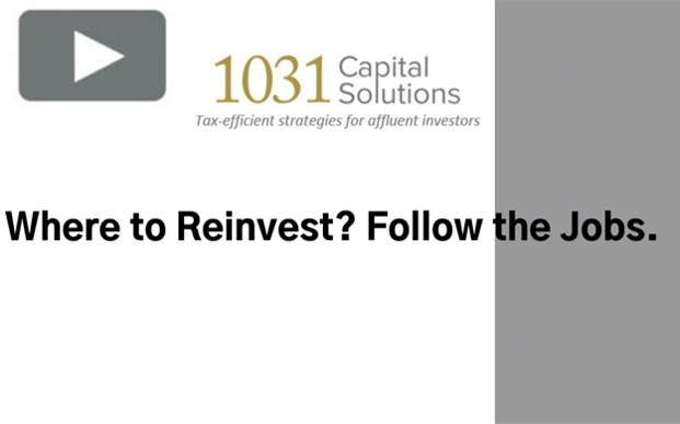 WHERE TO REINVEST? FOLLOW THE JOBS.
